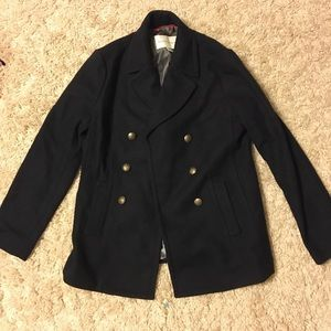 Navy banana Republic pea coat